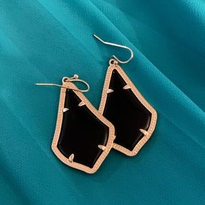Kendra Scott small black and gold earrings